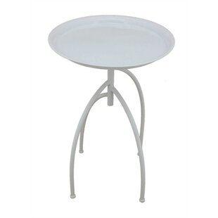 Goodner Elegantly Styled Metal End Table by Wrought Studio