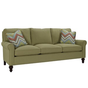 Curved Arm Three Loose Pillow Back Sofa by Classic Comfort