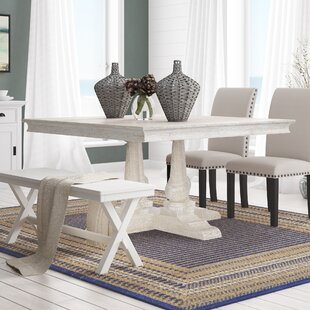 Greenfield Solid Wood Dining Table Rosecliff Heights