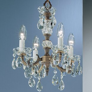 Madrid 4-Light Candle Style Chandelier by Classic Lighting