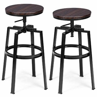 Willis Height Adjustable Bar Stool (Set Of 2) By Borough Wharf