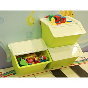 Stackable Plastic Storage Bin (Set of 3) By Rebrilliant