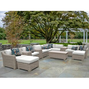 Coast 14 Piece Sectional Seating Group with Cushions by TK Classics