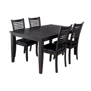 Aden 5 Piece Solid Wood Dining Set by TTP..