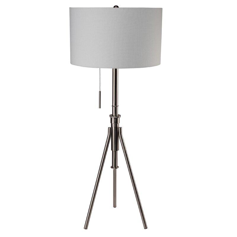 Orren Ellis Contemporary Adjustable Tripod Floor Lamp Reviews Wayfair