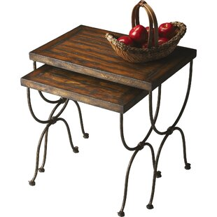 Black Raven 2 Piece Nesting Tables by Dar by Home Co