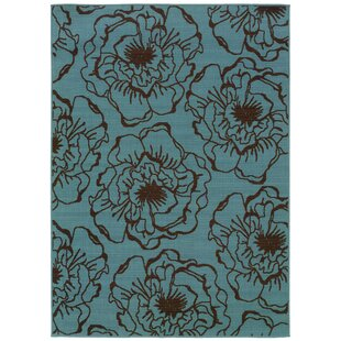 Shelton Blue/Brown Indoor/Outdoor Area Rug