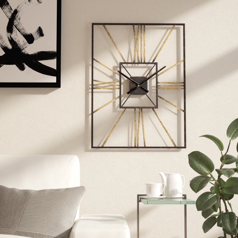 mid century wall clock Wade Logan Dillwyn Mid Century Wall Clock & Reviews | Wayfair mid century wall clock