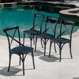 Black Patio Dining Chairs Youu0027ll Love | Wayfair