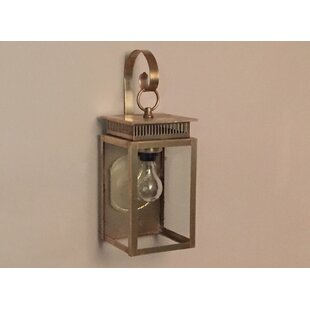Compare prices 1800 Series 1-Light Outdoor Wall Lantern By Brass Traditions