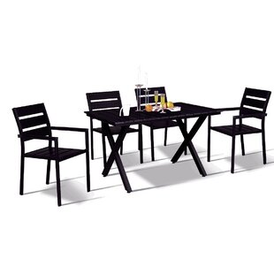 Wrought Studio Gallant Modern Contemporary 5 Piece Dining Set