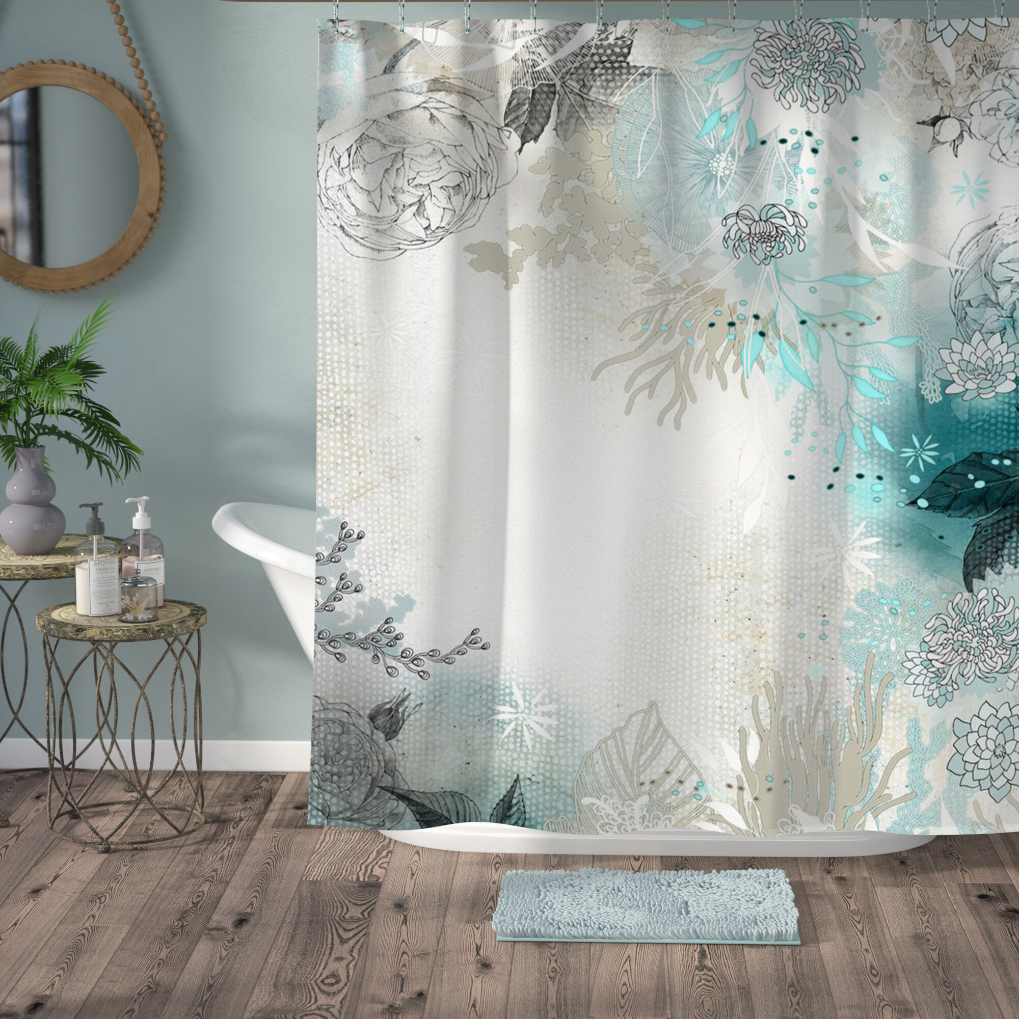 high elegant in restoration spa curtains matelasse hardware curtain gallery from end view shower