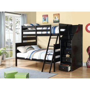 Carennac Wooden Storage Twin over Full Bunk Bed