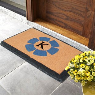 First Impression Floella Monogrammed Doormat by A1 Home Collections LLC