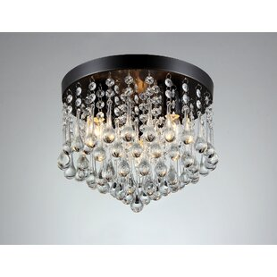 House of Hampton 3-Light Flush Mount