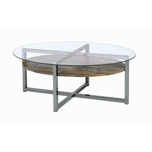 Hilderbrand Coffee Table with Tray Top by Wrought Studio