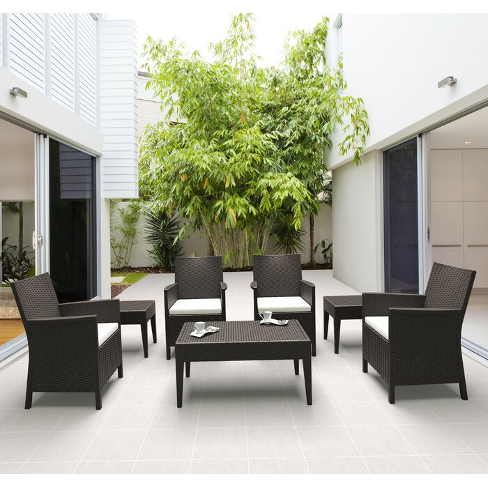 Racheal 7 Piece Sunbrella Seating Group with Cushions