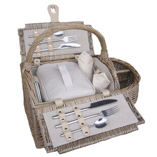 Double Lidded 2 Person Boat Picnic Basket By Beachcrest Home