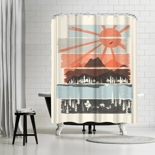 NDTank Morning by Bear River Single Shower Curtain