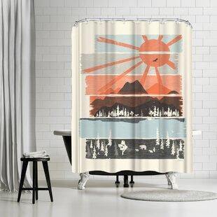NDTank Morning by Bear River Single Shower Curtain