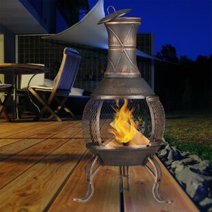 Landon Wood Burning Chiminea By Alpen Home