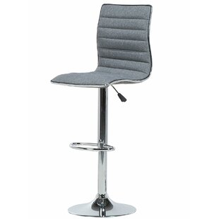 Emerita Fabric Adjustable Height Swivel Bar Stool by Orren Ellis