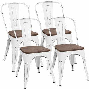 Glennie Metal Slat Back Side Chair (Set Of 4) By Williston Forge