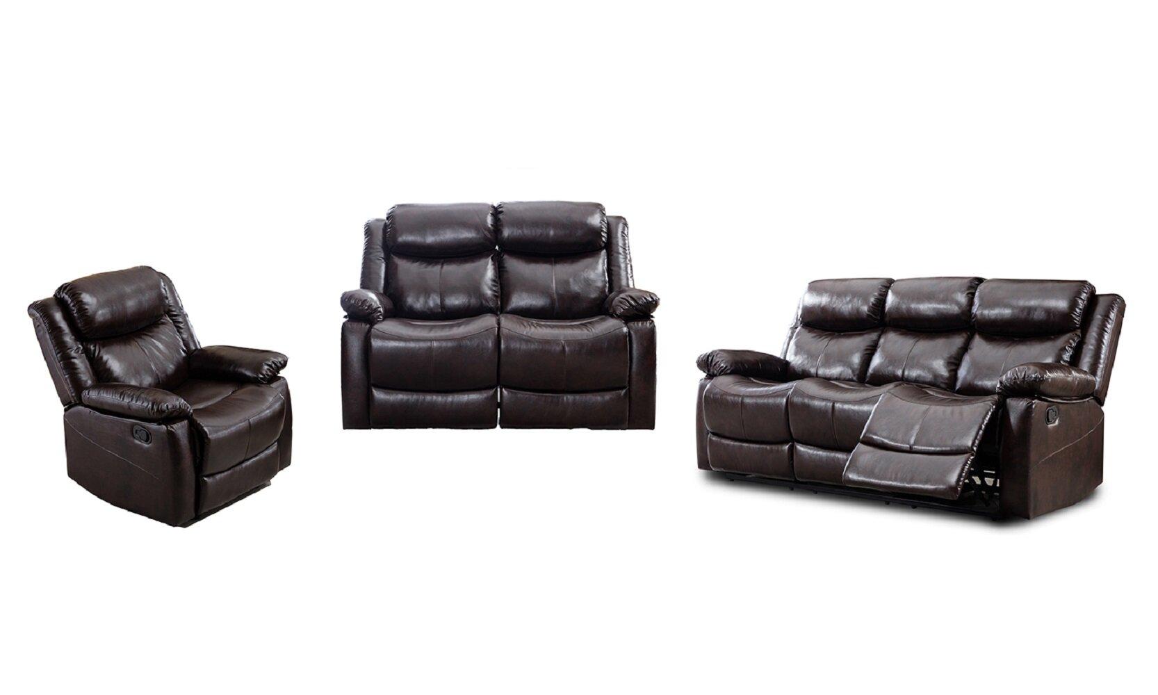 Winston Porter Grovehill Classic 3 Piece Reclining Living Room Set Wayfair