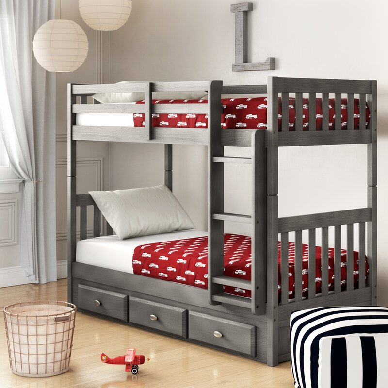 Birch Lane Heritage Williamson Twin Over Twin Bunk Bed With Drawers