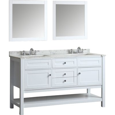 Surprising Givens 60 Double Bathroom Vanity Set With Mirror Alcott Hill Alphanode Cool Chair Designs And Ideas Alphanodeonline