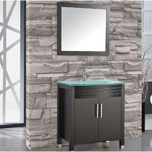 Prall 32 Single Sink Bathroom Vanity Set with Mirror By Orren Ellis