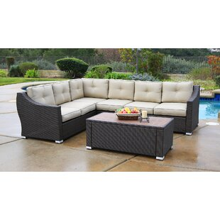 Lanclos 5 Piece Sectional Seating Group with Cushions