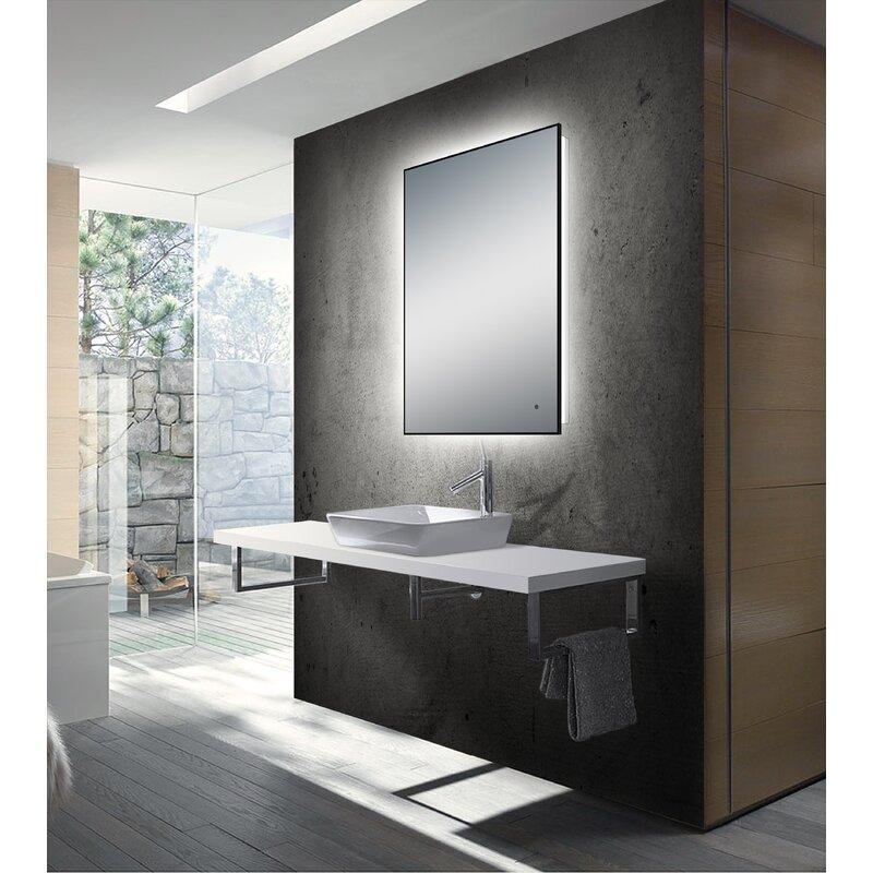 Martz Modern Lighted Bathroom Mirror