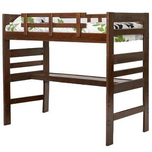 Durell Loft Twin Bed with Desk By Harriet Bee