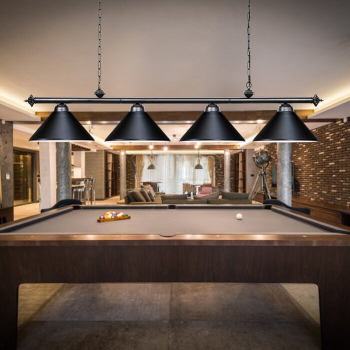 Boonton 4 Light Pool Table Lights Bulb Pendant