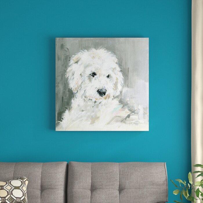 'Sweet Pups - Golden Doodle' Acrylic Painting Print