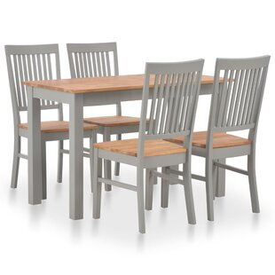 Madalynn Dining Set With 4 Chairs By August Grove