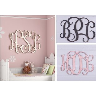 Painted 3 Letter Monogram Wall Décor