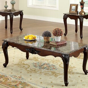 Sherie Traditional 3 Piece Coffee Table Set by Astoria Grand