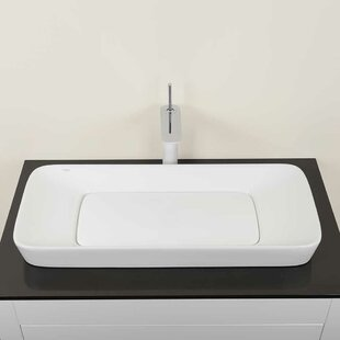 Level Ceramic Rectangular Vessel Bathroom Sink by Ronbow