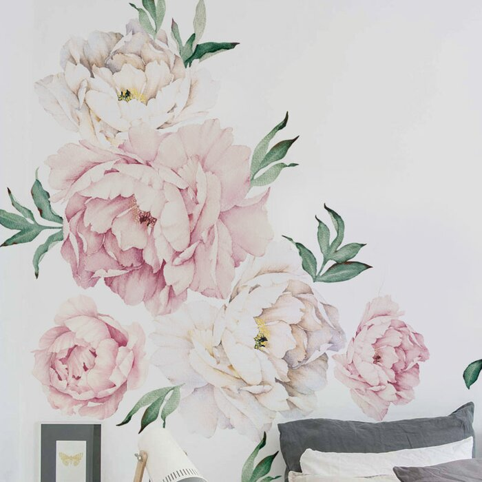 Delicieux Peony Flowers Wall Decal