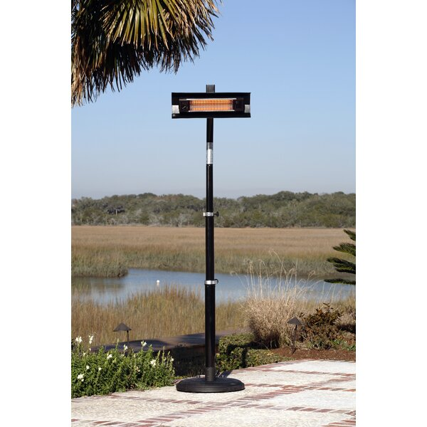 Fire Sense Telescoping 1500 Watt Electric Patio Heater U0026 Reviews | Wayfair