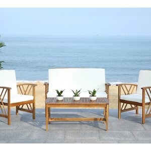 Medora 4 Piece Outdoor Dining Set with Cushions