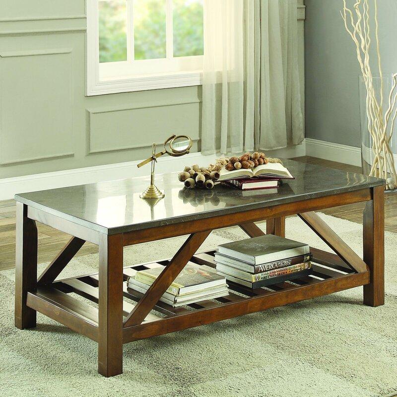 Ashby Coffee Table, Bluestone Marble