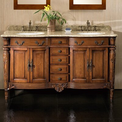 "Double Bathroom Vanity Photos ove decors belfast 60"" double bathroom vanity set & reviews 