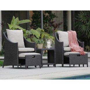 Serta at Home Laguna 5 Piece Conversation Set with Cushions