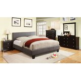 Pardeesville Gray Queen Bed With Night Stand, Dresser, Chest And Mirror Set by Ebern Designs