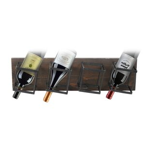 Auerbach 4 Bottle Wall Mounted Wine Rack ..