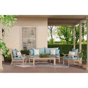 Yvonne 4 Piece Sofa Seating Group With Sunbrella Cushions By Bay Isle Home