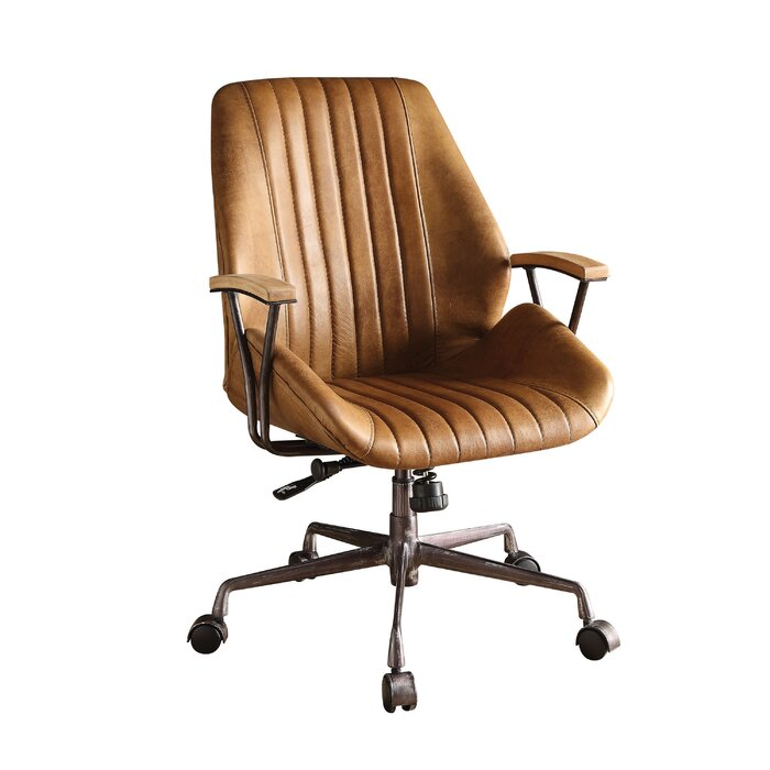 Admirable Kirbyville Genuine Leather Task Chair Download Free Architecture Designs Grimeyleaguecom